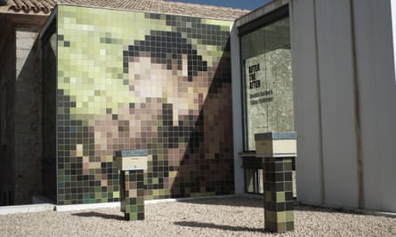 Is id art? Gordon sees repressed sexuality in Rehberger's pixelated mosaic.