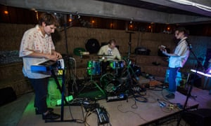 Raisa Khan (keyboards) and Marc Pell (drums), with Mica Levi (right): 'no mere hired hands'.