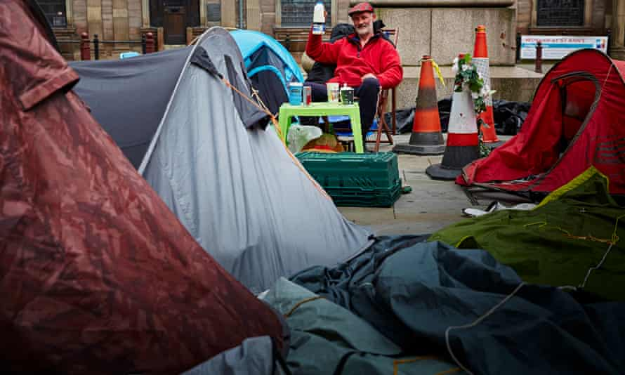 homeless campers manchester