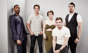 Super? ... Michael B. Jordan, Miles Teller, Kate Mara, Jamie Bell and Toby Kebbell of Fantastic Four