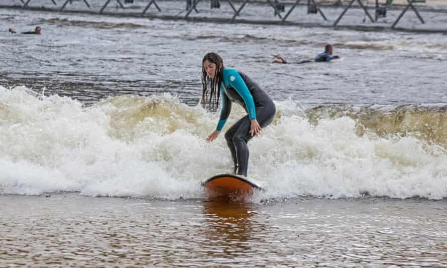 The writer catches a wave.