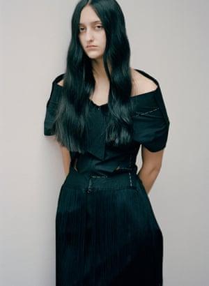 A model from the Yohji Yamamoto archive