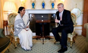 West Bengal chief minister Mamata Banerjee visited Buckingham Palace on her trade mission – but just to see Prince Andrew.