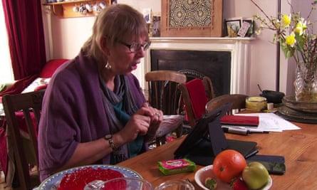 Liz Fewings, a retired teacher, now volunteers as a  Skype granny