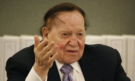 Sheldon Adelson, multibillionaire casino magnate and Republican party donor. (AP Photo/John Locher)