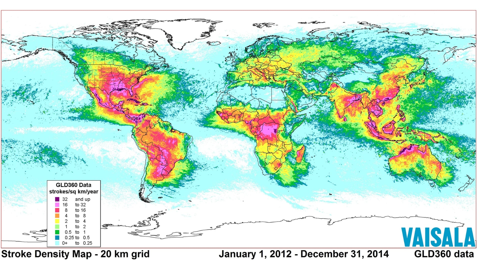Lightning Map Colorado Lightning strikes around the world from 2012 to 2014 [1920x1068