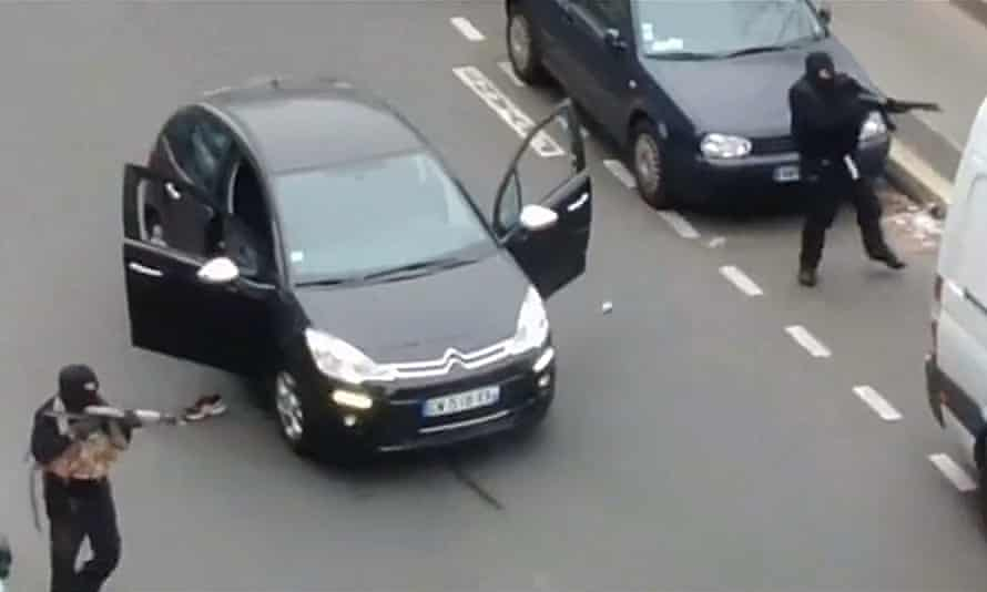 The Charlie Hebdo attack in Paris in January.