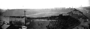 24 April 1920: 50,018 spectators watch the 1920 F A Cup Final between Aston Villa and Huddersfield. Stamford Bridge hosted three successive FA Cup finals between 1920 and 1922.