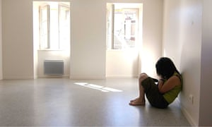 GIRL IN AN EMPTY ROOM