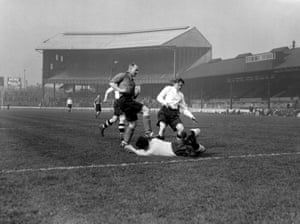 """On 8 September 1939, the FA suspended all matches except those organised by the armed forces. On 15 March 1941, at Stamford Bridge, a team of Allied Forces played the British Army, captained by Stan Cullis and featuring Dennis Compton on the wing. Former player Charles Buchan said that 'during the greatest war of all times and in the midst of visits from enemy bombers dealing death and destruction, it was possible to gather together a team of sportsmen from conquered countries in Europe, good enough to match their skill against the best England could produce""""."""