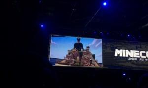 Minecraft's E3 demo working on Microsoft's Hololens.