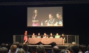 The live-streaming panel at Minecon 2015.