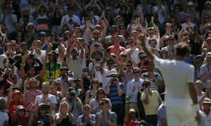 Roger Federer: the fans seem to like him in white.