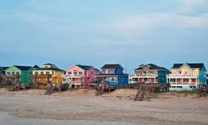 Waterfront beach houses, North Carolina