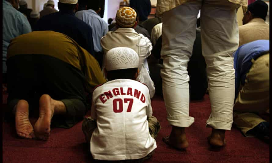 Friday prayer at the Shah Jahan mosque in Woking, Surrey
