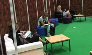 Adults taking a breather at Minecon 2015.