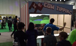Cow tipping at Minecon.