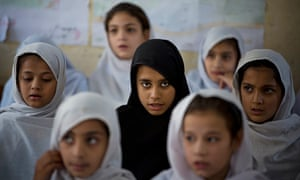 Pakistani students attend school in the conservative hometown of Malala Yousafzai