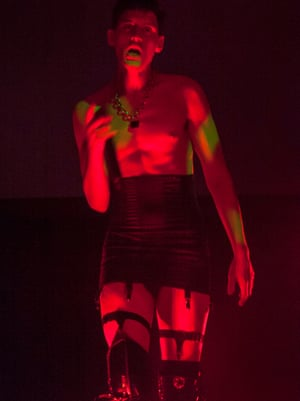Thigh-high boots at the ready … Arca