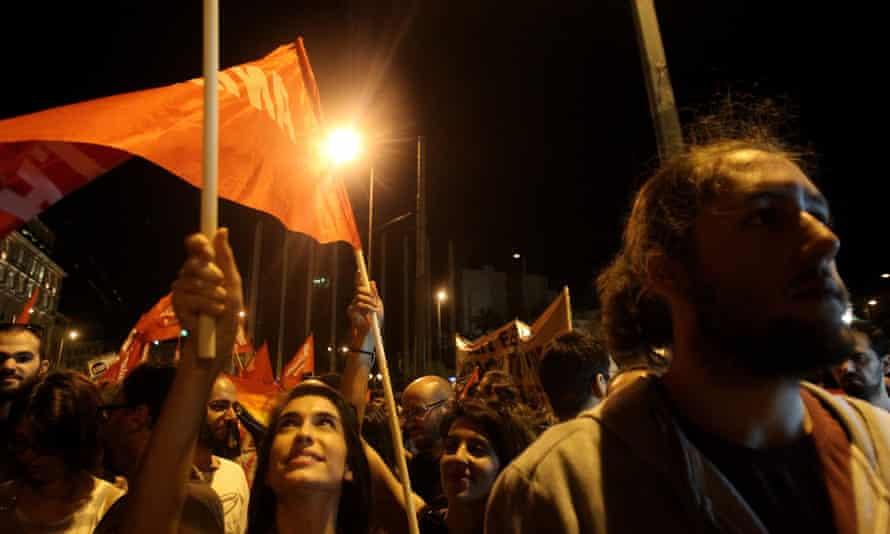 No protesters in Greece