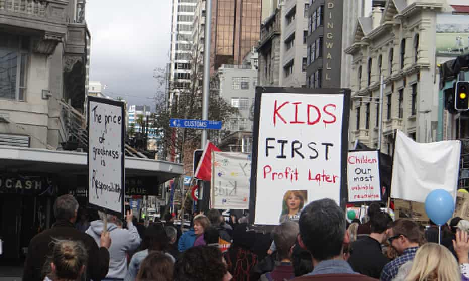 New Zealand's Child Poverty Action Group demonstration, Auckland