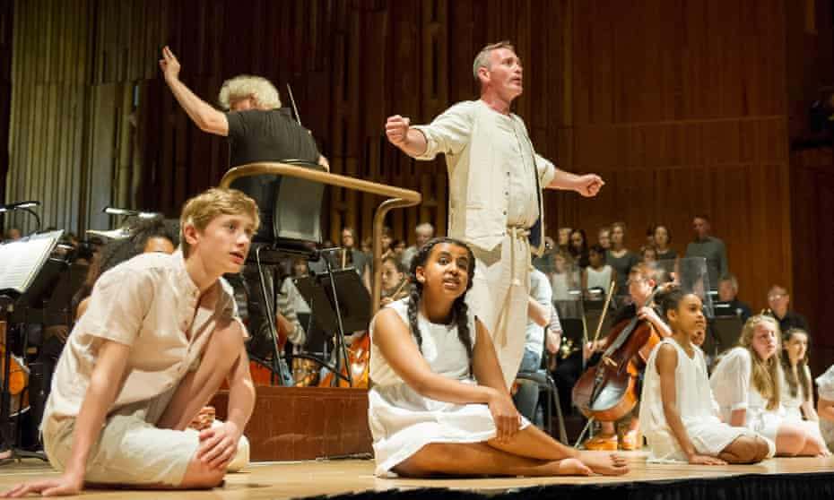 The Monsters in the Maze at the Barbical Hall, conducted by Simon Rattle, with Andrew Rees as Theseus.