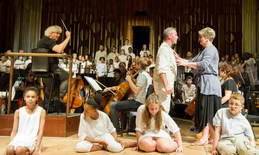 The Monsters in the Maze, conducted by Simon Rattle, with Andrew Rees as Theseus, Yvonne Howard as Mother.