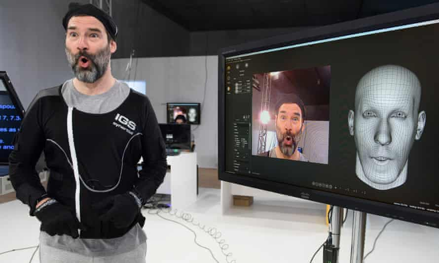 Adam Buxton takes part in Performance Capture.
