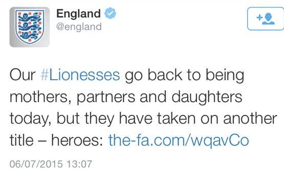 England women tweet