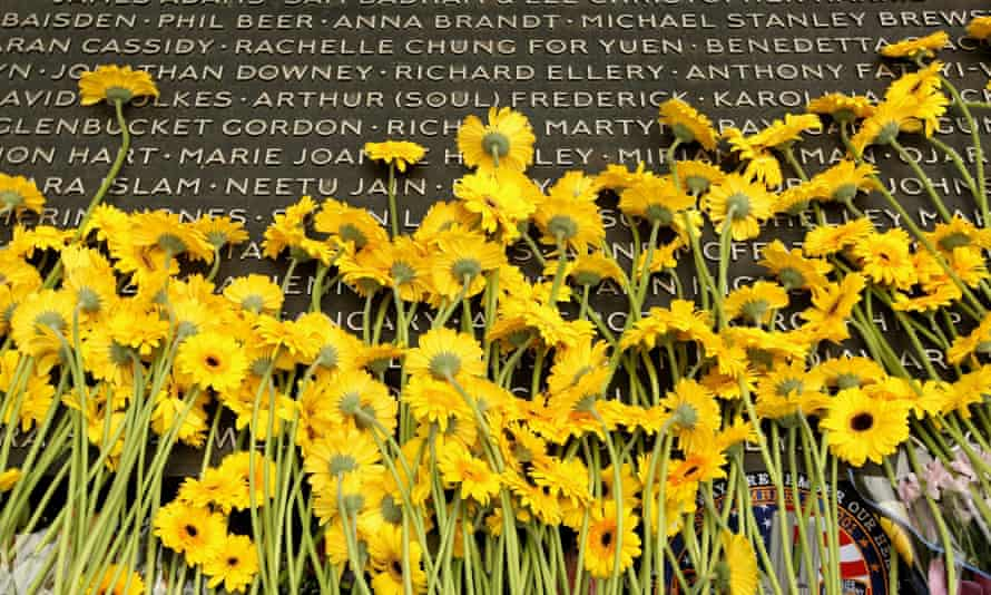 Flowers at the Hyde Park 7/7 memorial