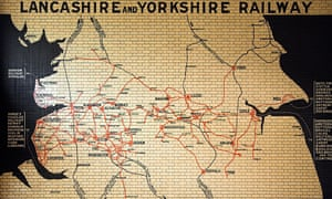 Out of date … the famous Lancashire and Yorkshire Railway map in Manchester Victoria station.