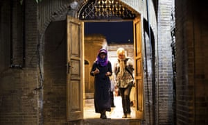 Tourists visit the tomb of Persian mystic poet Hafez in Shiraz.