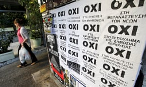 Oxi vote posters in Greece