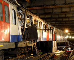 One of the London Underground trains which was bombed at Aldgate tube station on July 7, 2005
