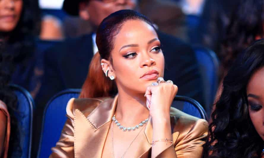 Rihanna at the BET awards.