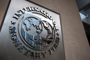 The logo of the International Monetary Fund.