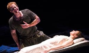 Duncan Rock (Tarquinius) and Christine Rice (Lucretia)  in The Rape Of Lucretia by Benjamin Britten @ Glyndebourne.