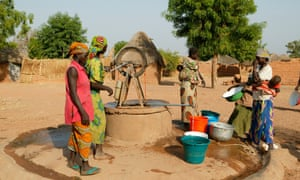 Women getting water from the well, Pakete, Cameroon, Africa