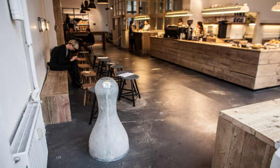 The Barn, a coffee shop in Berlin, which does not serve milk or sugar with coffee.