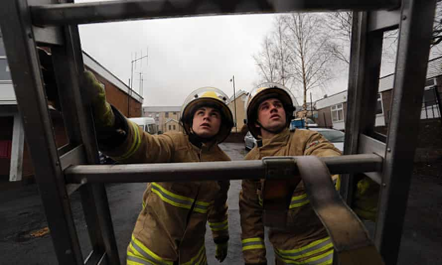 Fire service training young people Wales