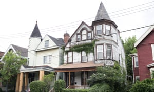 Traditional homes in Pittsburgh's East Liberty have become neglected and used for crime.