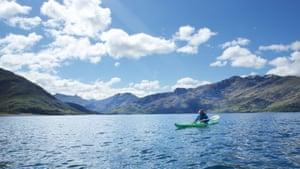 Erin, group leader, sea-kayaking in Scotland.