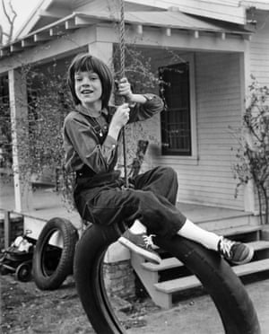 Mary Badham on the set of To Kill A Mockingbird in 1962