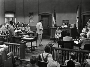 A courtroom scene from To Kill A Mockingbird