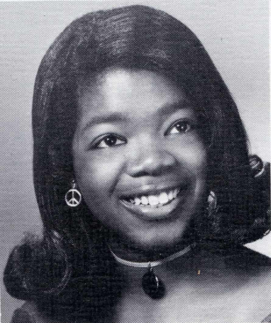Oprah Winfrey in her high school yearbook in 1971
