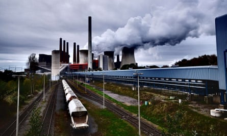A power plant run by coal from the brown coal open cast mine Garzweilee, in Neurath, western Germany.