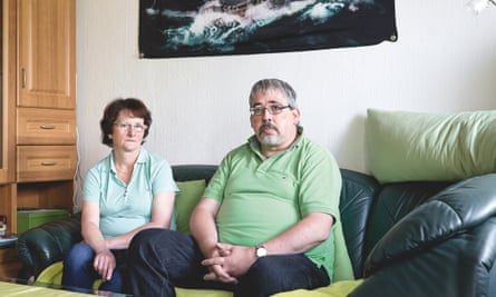 Gerd Keil, whose own family informed on him to the Stasi, with partner Manuela Keilholz.