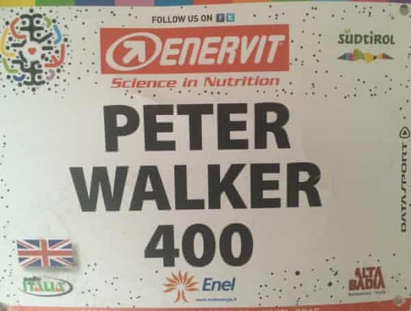 Maratone race number