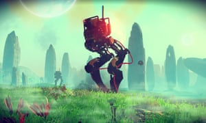 A new shot from No Man's Sky released at E3 in Los Angeles.