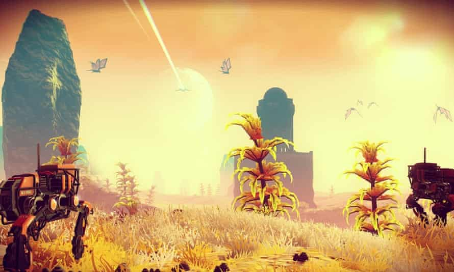 A new still from No Man's Sky released at E3 in Los Angeles.